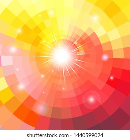 Bright multicolored gradient background with luminaries