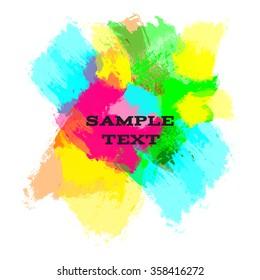 Bright neon watercolor blots for your design