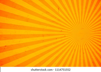 Bright orange and yellow rays background,Vector