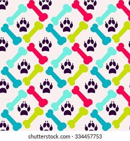 bright pattern made of bones and animal tracks