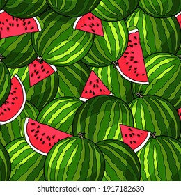 Bright patterns with sweet watermelons