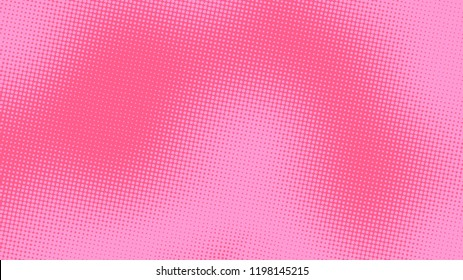 Bright pink magenta pop art background with halftone in retro comic style, vector illustration HD eps10