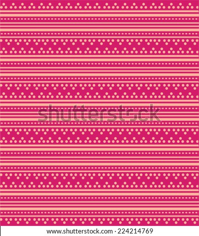 Bright Pink Oriental Traditional Henna Design Stock Vector Royalty