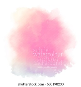 bright pink watercolor splotch