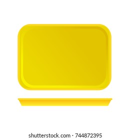 Bright plastic tray for fast food. Vector illustration