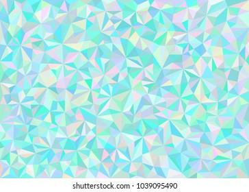 Bright Polygonal Background. Blue Color Vector Illustration with Triangles.