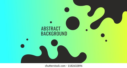 Bright poster with dynamic waves. Vector illustration in minimal flat style