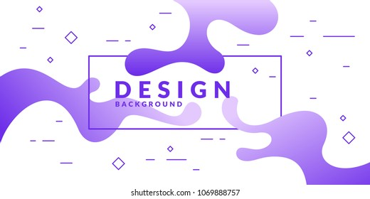Bright poster with splatter. Vector illustration minimal flat style