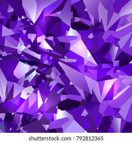 Bright purple abstract background made of purple crystals. Vector design.