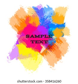 Bright rainbow blots for your design, white background, vector illustration