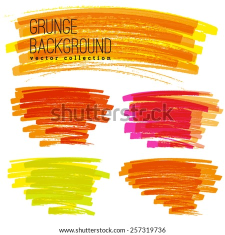 Bright Rainbow Colors Vector Marker Stains Stock Vector