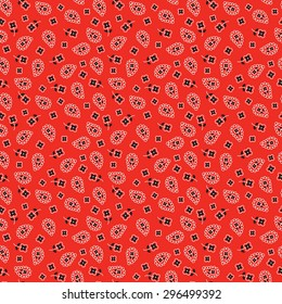 bright red bandana pattern