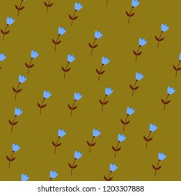 Bright Seamless pattern with flowers and hearts. Floral background for fabric, covers and wallpaper.