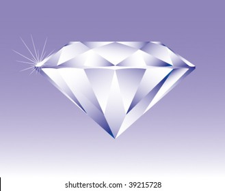 Bright shining diamond, vector illustration