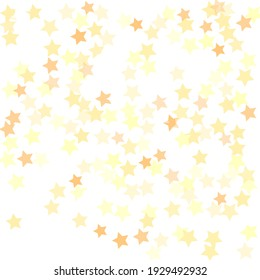 Bright Sky Seamless Vector. Golden Yellow Bohemian Luxury Pastel Shiny White Christmas Stars Surface Illustration. Party Simple Trendy Night Background. Holiday Magic Geometrical Shape Backdrop.