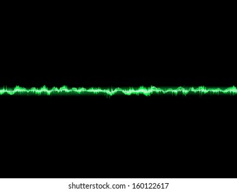 Bright sound wave on a dark green background. EPS 10 vector file included