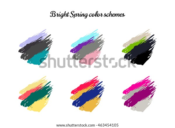 Bright Spring Colour Combinations Clothing Colour Stock ...