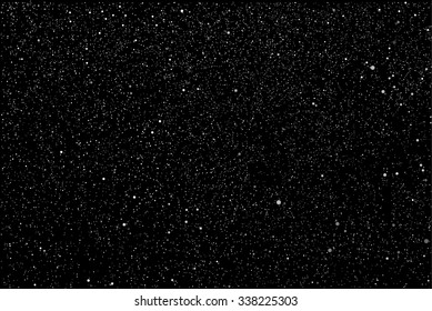 Bright star in blue dark night sky. Starry nights with bright, shinny stars, dots, points. Universe, cosmos, outer space. Background, banner, wallpaperm card, backdrop vector illustration.