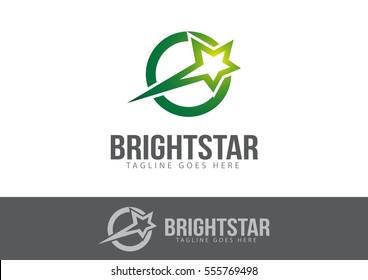 Bright Star Logo Template Design Vector