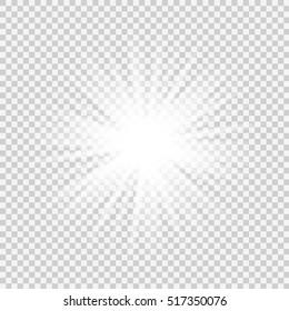 Bright star. Vector illustration EPS 10.