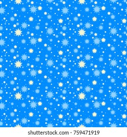 Bright starry dreamy night seamless pattern
