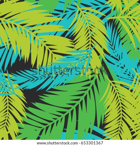 bright summer palm tree leaves pattern stock vector royalty free