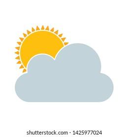 bright sun icon. flat illustration of bright sun vector icon for web