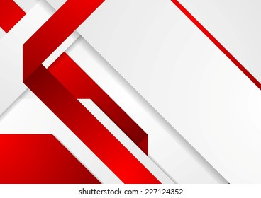 Bright tech corporate red and white background. Vector design