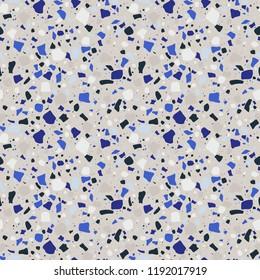 Bright Terrazzo Seamless Pattern - Abstract Terrazzo design in bright colors