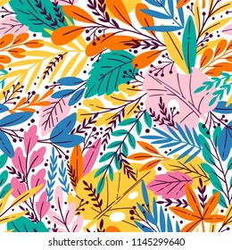 1390165b2 Tropical Seamless Floral Pattern Autumn Vector Stock Vector (Royalty ...