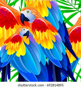 Bright tropical parrot.