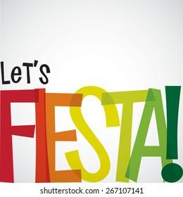 Jasna karta typograficzna Fiesta w formacie wektorowym.