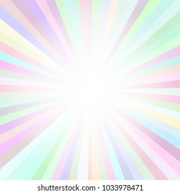 Bright Vector Background with Rays and Splash. Creative Frame Illustration for Poster, Ad, Cover and Billboard.