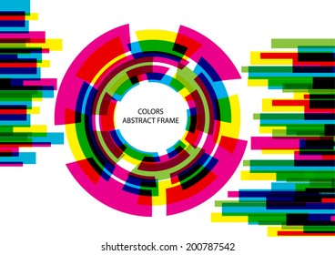bright vector colorful circles frame