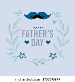 bright vector illustration for father's day