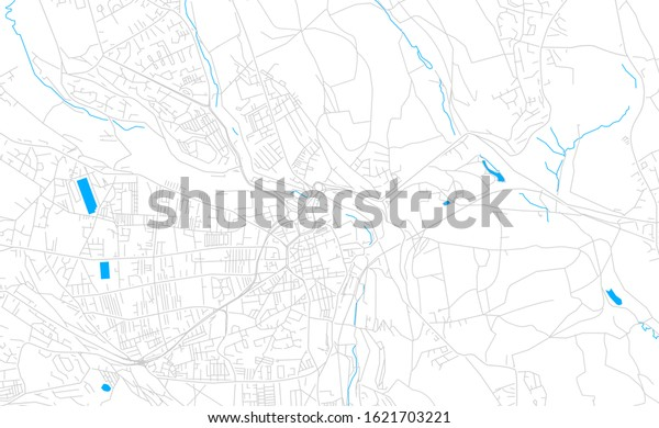 Map Of England Showing Halifax.Bright Vector Map Halifax England Fine Stock Vector Royalty Free