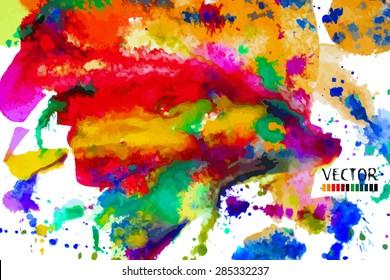 bright watercolor background. Vector