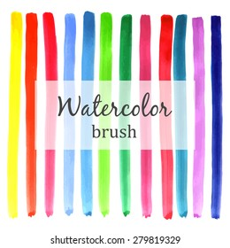 Bright watercolor elements for design.Watercolor Background. Vector.