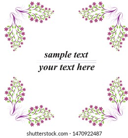 Bright watercolor floral frame with different herbal element for invitations. greeting cards an other decorations. Autumn flower frame