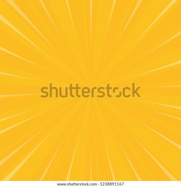 Bright yellow & orange sunburst background