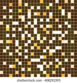 Bright yellow-gold mosaic. Vector illustration. For use in printing, flyer design, wallpaper, presentations.