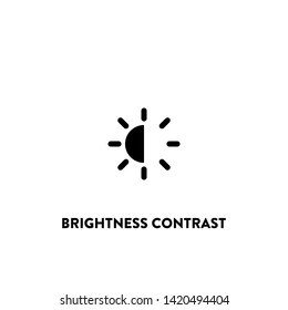 brightness contrast icon vector. brightness contrast sign on white background. brightness contrast icon for web and app