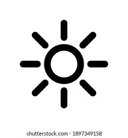 brightness icon. sun light symbol isolated on white background