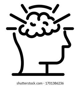 Brilliant brain icon. Outline brilliant brain vector icon for web design isolated on white background