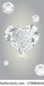 Brilliant Diamond game isolated. Screen vector design for mobile app