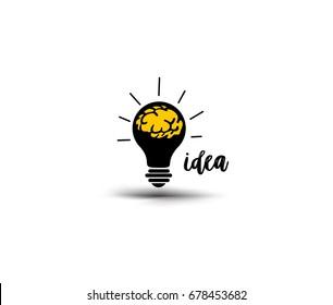 Brilliant idea, enlightment, vector illustration