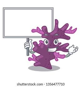 Bring board purple coral reef in cartoon aquarium
