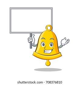 Bring board school bell character cartoon