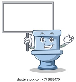 Bring board toilet character cartoon style