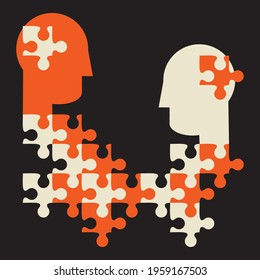 bring different people together to collaborate, common ground concept illustration